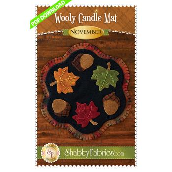 Wooly Candle Mat - November - PDF DOWNLOAD