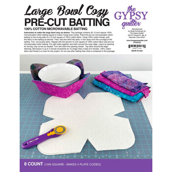Large Bowl Cozy Pre Cut Batting - 8ct by The Gypsy Quilter