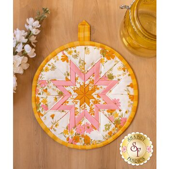Folded Star Hot Pad Kit - A Blooming Bunch - White