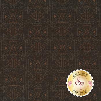 Best of Days 2456-38 Brown Star Geo by Henry Glass Fabrics REM