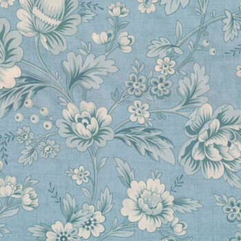 Bluebird 9767-B Wilderness Blue Dahlia by Edyta Sitar for Andover Fabrics