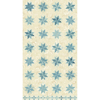 Bluebird 9848-LB First Snow North Star by Edyta Sitar for Andover Fabrics