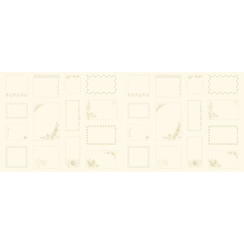 Bluebird 9851-L Cream Made With Love Panel by Edyta Sitar for Andover Fabrics