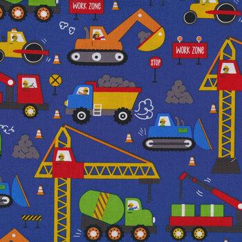 Play Zone Y3272-92 Dark Royal Blue by Clothworks