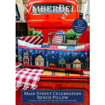 Main Street Celebration Bench Pillow Pattern - Machine Embroidery Version