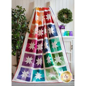 Joyful Stars Quilt Kit - Ombre Fairy Dust Metallic