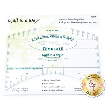 Scallops, Vines, and Waves Template