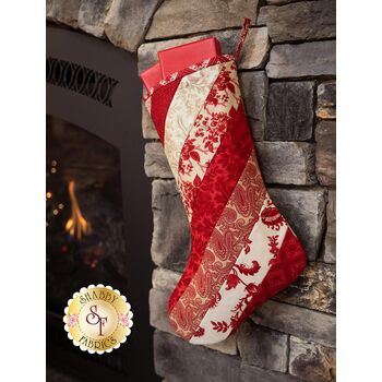 Quilt As You Go Holiday Stocking - Cinnaberry - SAMPLE PROJECT