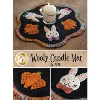 Wooly Candle Mat - April - Wool Kit