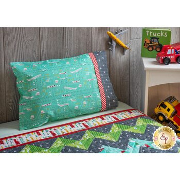 Magic Pillowcase Kit - On The Go - Travel Size - Teal Airplanes