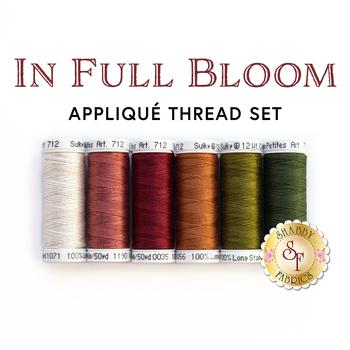 In Full Bloom - Wool Mat Kit - 6 pc Applique Thread Set