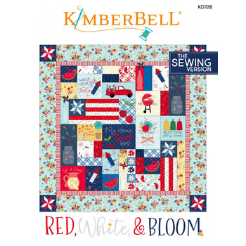 Red, White, & Bloom Quilt Pattern - Sewing Version