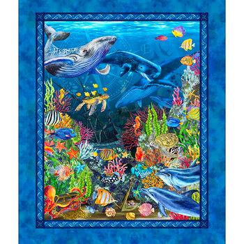 Calypso II 20CAL-1 Panel Blue by Jason Yenter for In the Beginning Fabrics