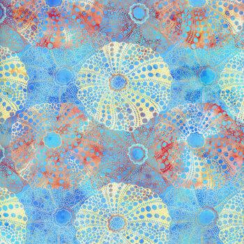 Calypso II 23CAL-1 Sea Urchins Blue by Jason Yenter for In the Beginning Fabrics