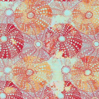 Calypso II 23CAL-2 Sea Urchins Orange by Jason Yenter for In the Beginning Fabrics