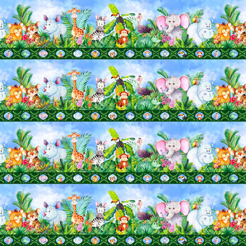 Jungle Friends 3JF-1 by Jason Yenter for In the Beginning Fabrics