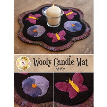 Wooly Candle Mat - May - Wool Kit