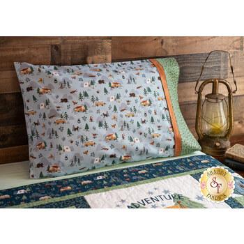 Magic Pillowcase Kit - Camp Woodland - Standard Size - Light Blue