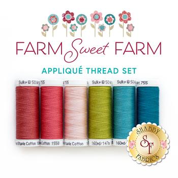 Farm Sweet Farm Quilt Kit - 6pc Applique Thread Set