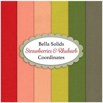 Bella Solids  6 FQ Set - Strawberries & Rhubarb Coordinates by Fig Tree & Co. for Moda Fabrics