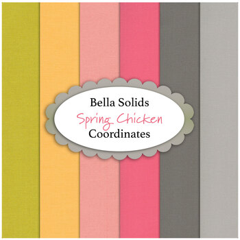 Bella Solids  6 FQ Set - Spring Chicken Coordinates by Moda Fabrics from Sweetwater