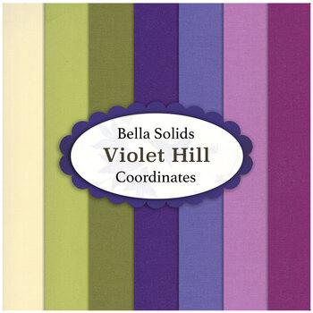 Bella Solids  7 FQ Set - Violet Hill Coordinates by Moda Fabrics