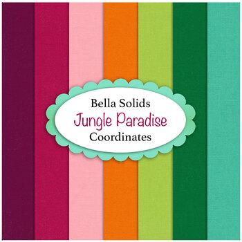 Bella Solids  7 FQ Set - Jungle Paradise Coordinates by Moda Fabrics