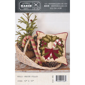 Holly Wreath Pillow Pattern