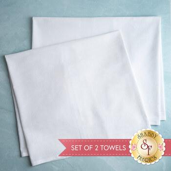 Hand Embroidery Tea Towel - Set of 2