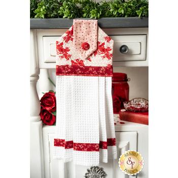 Hanging Towel Kit - Roselyn - Red