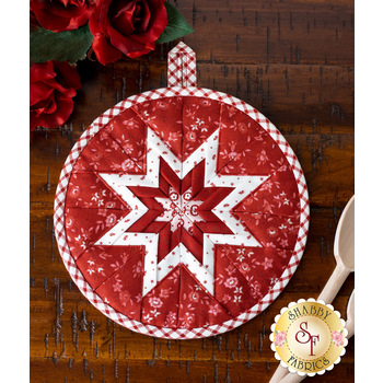 Folded Star Hot Pad Kit - Roselyn - Red