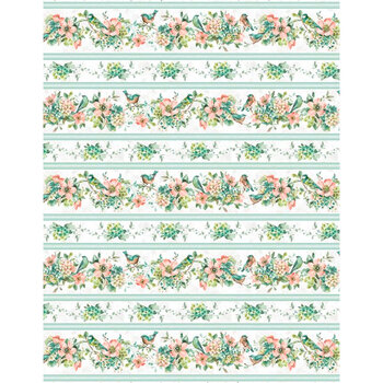 Mint Crush 17763-473 Repeating Stripe Multi by Lisa Audit for Wilmington Prints