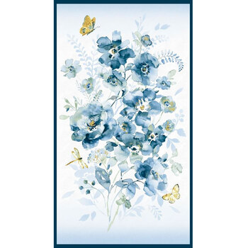 Blue Breeze 89245-145 Panel by Danhui Nai for Wilmington Prints