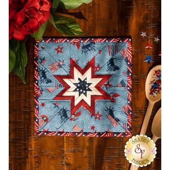 Folded Star Squared Hot Pad Kit - Liberty Lane - Medium Blue