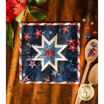 Folded Star Squared Hot Pad Kit - Liberty Lane - Dark Blue