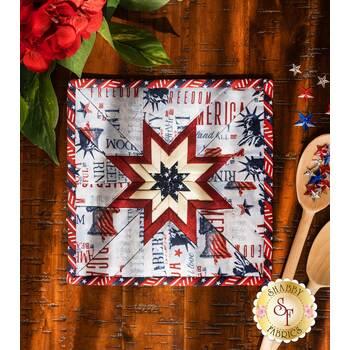 Folded Star Squared Hot Pad Kit - Liberty Lane - Light Blue
