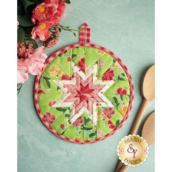 Folded Star Hot Pad Kit - Strawberry Honey - Green
