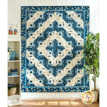 Log Cabin Twin Size Quilt Kit - Perfect Union