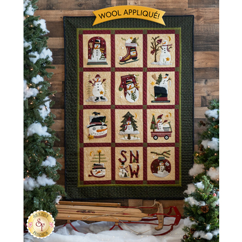 Winter Wonderland Quilt Kit - Wool Appliqué