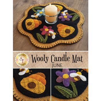Wooly Candle Mat - June - Wool Kit