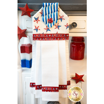 Hanging Towel Kit - America the Beautiful - White Stars with Red
