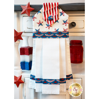 Hanging Towel Kit - America the Beautiful - White Stars with Blue