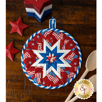 Folded Star Hot Pad Kit - America the Beautiful - Red