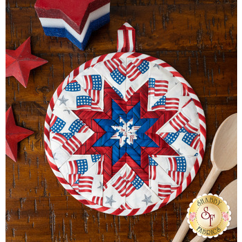 Folded Star Hot Pad Kit - America the Beautiful - White Flags