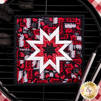 Folded Star Squared Hot Pad Kit - Peace, Love & BBQ - Black