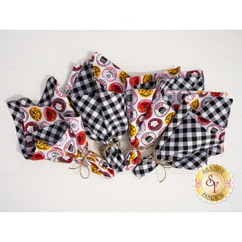 Cloth Napkins Kit - Peace, Love & BBQ - Makes 4