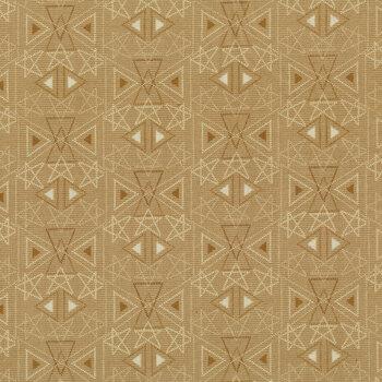 Best of Days 2456-34 Tan Star Geo by Janet Rae Nesbitt for Henry Glass Fabrics REM