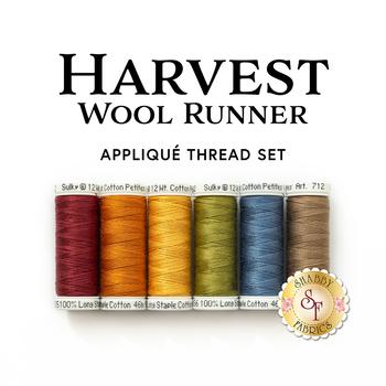 Harvest Wool Runner - 6pc Applique Thread Set