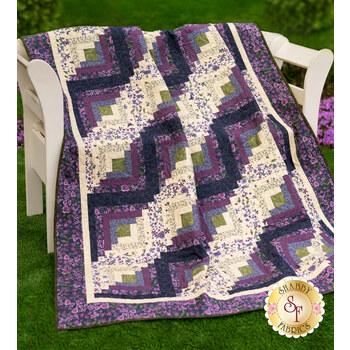 Log Cabin Throw Size Quilt Kit - Violet Hill