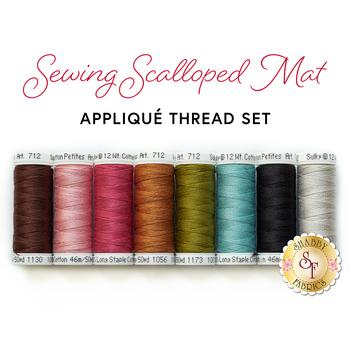 Sewing Scalloped Mat - 8pc Applique Thread Set